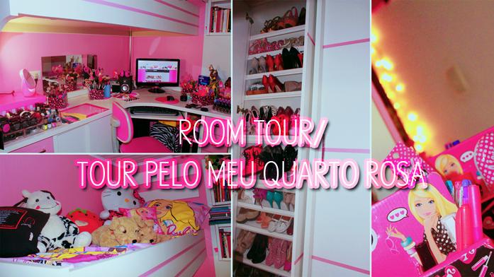 Tour Pelo O Meu Quarto Cor De Rosa ~ V?deo Tour pelo meu quarto + Fotos