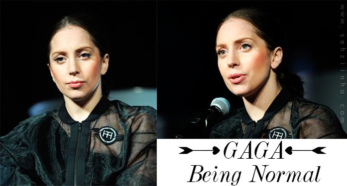Gaga polemizando por aparecer normal