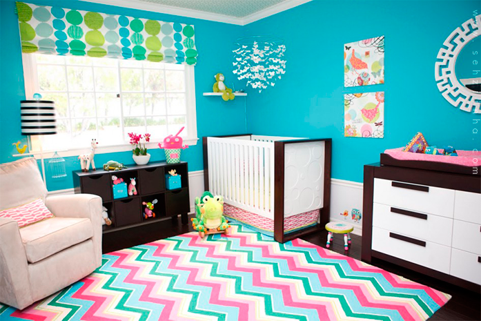 Decor inspiracao turquesa for Ideas for girls rooms done in baby blue