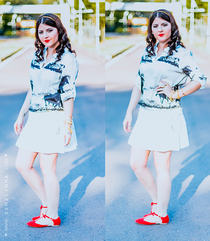 Look do dia: A touch of red