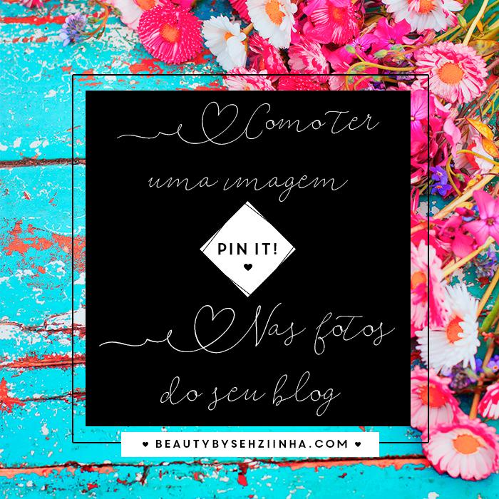 como usar um botão personalizado Pin it no seu blog