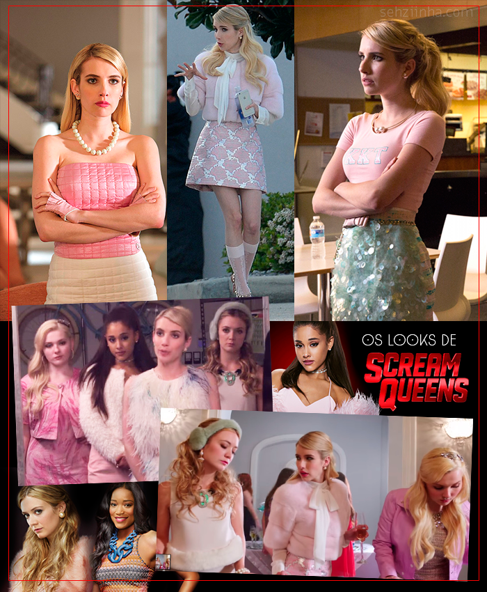 Os looks fabulosos de Scream Queens
