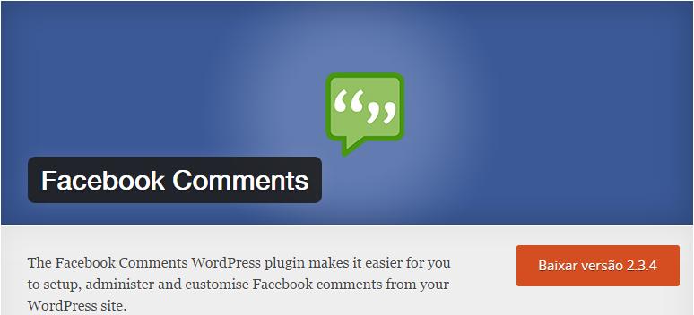 facebook-comments 10 Plugins Para WordPress Que Você Precisa Conhecer