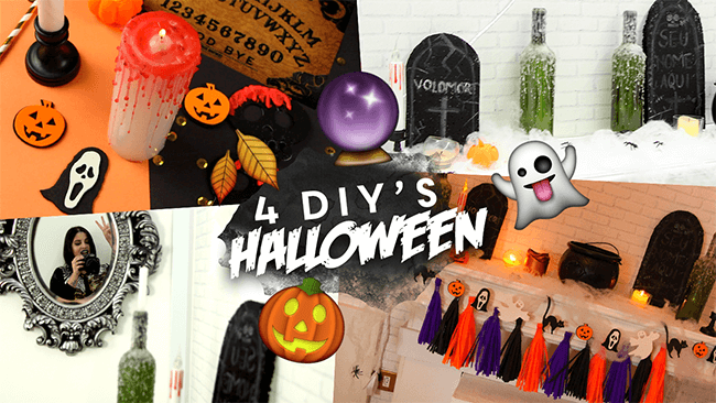 Video: DIY's de Halloween pra você testar