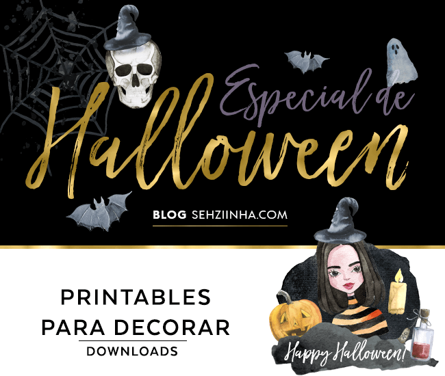Pra Decorar: Printables de Halloween (Download)