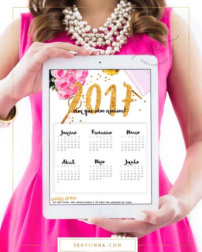 Baixe já: Calendário 2017